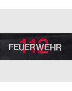 Stickerei Feuerwehr 112